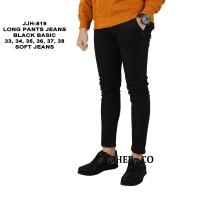 Celana Jeans Jumbo 33-38 Denim Hitam Polos Panjang Pensil Skinny Pria