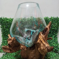 Aquarium kayu/akar diameter 25cm