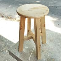 Kursi restoran / kursi bakso bulat / kursi kayu jati