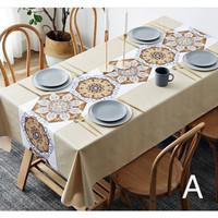 Premium PVC Table Cloth / Taplak Meja Makan Waterproof Anti Air