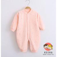 (0-24 Bulan) Sleepsuit Romper Jumper Baju Bayi Panjang READY STOCK - Merah Muda, 3-6 Bulan