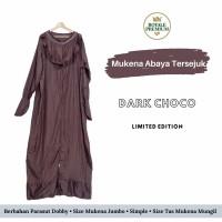 Mukena Royale Premium parasut - abaya - Dark Choco