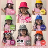 Topi Anti Corona Anak-Anak / Face Shield For Kids - Kuning