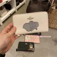 Coach x Disney Medium Zip Around Wallet With Dumbo - ORIGINAL 100%