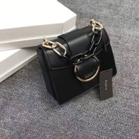 Tas Pedro Bucklet Shoulder Small Bag in Two - Tone