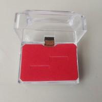 Kotak cincin acrylic muat 2 cincin