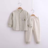 Baju Anak Bayi / Setelan Anak Bayi Lengan Panjang Rubah - Cream 6-9bln