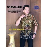 Kemeja Batik Pria Dewasa NAYRENDRA Lengan PENDEK By RAJA SAKTI
