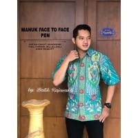 Kemeja Batik Pria Dewasa MANUK FACE TO FACE PENDEK By RAJA SAKTI