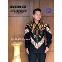 Kemeja Batik Pria Dewasa NATAWIJAYA COLET Lengan Panjang By RAJA SAKTI