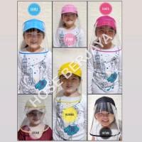 Topi Anti Corona / Face Shield Anak Trendy Warna Warni (Baseball Hat)