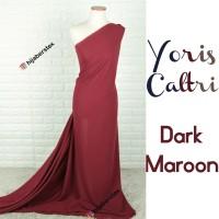 HijabersTex 1/2 Meter Kain YORIS CALTRI Dark Maroon