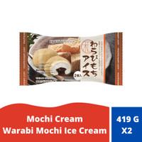 Mochi Cream Warabi Mochi Ice Cream (Pork Gelatine)