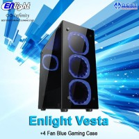 Enlight Vesta + 4 Fan Blue Gaming Case