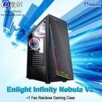 Enlight Infinity Nebula V2 + 1 Fan Rainbow Gaming Case