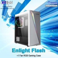 Enlight Flash + 1 Fan RGB Gaming Case