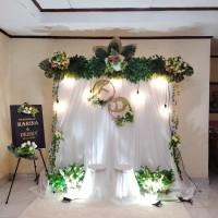sewa dekorasi backdrop murah akad nikah / lamaran (AREA JAKARTA ONLY)