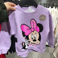 baju sweater anak lucu flip sequin Disney Minnie mouse H&M original