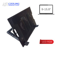 kipas laptop cooling pad Ace cooling ergostand 15,6inch 1 fan