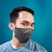 Masker Kain Katun Jepang Laki Laki 3 PLY