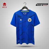 MILLS jersey training kit timnas indonesia S ROYAL ORIGINAL - Biru, XS
