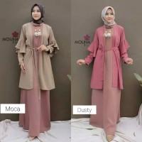 Trusya set baju gamis pakaian wanita dress fashion muslim
