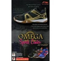 Sepatu Badminton Lining Omega AYTM 087 AYTM 087 Black Gold FSH