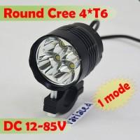Cree Round 1 Mode 4-T6 XML Lampu Tembak Mini LED DC 12V 24V Motor Mo