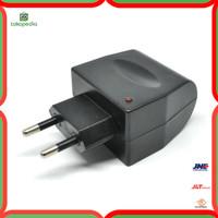 Adaptor AC-DC Car Charger Switch 12V 500 mA EU Plug - Black Diskon