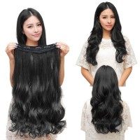 Klip rambut Real Natural Full Head Clip In Hair Extensions Clips Wig