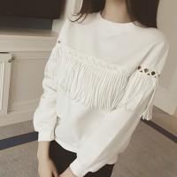 Kaos T-Shirt Wanita dengan Model Lengan Panjang dan Ukuran Besar