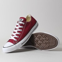 Converse Marun Classic Low Sepatu Pria Wanita