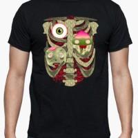 Kaos Zombies Ribs T-Shirt