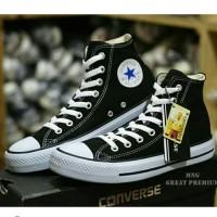 Converse Black High Boot Hitam Sepatu Pria Wanita