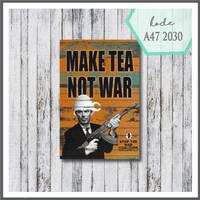 Wall decor vintage poster kayu pajangan dinding cafe make tea
