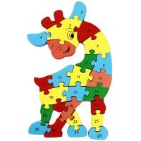 Mainan Puzzle Gambar Binatang / Huruf / Angka Lucu Warna-warni untuk