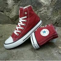 Converse Marun High Boot Marun Sepatu Pria Wanita
