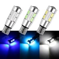 LAMPU LED MOBIL TIPE CANBUS T10 COB 5630 5730 10 MATA SMD LENSA PROJI