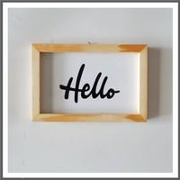 Poster Typography Small - Hiasan Dinding - Pajangan - Hello