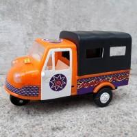Mainan mobil bemo klasik miniatur becak motor antik edukatif anak