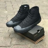 Converse FULL BLACK HIGH Boot Full Hitam Sepatu Pria Wanita