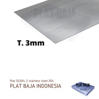 Plat Stainless 3mm | Stainless Steel Plate harga per 1 cm2