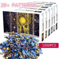 1000pcs Mainan Jigsaw Puzzle Mini Gambar Pemandangan Untuk Edukasi