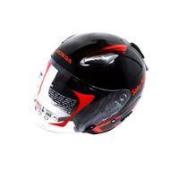 Helmet Honda Half Face KYT Black Red SIZE M 87100HFBLRM