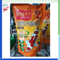 Jual Hokky fish food growth formula size S/M/L 1kg Diskon