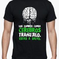 Kaos Zombies Eat Brains, You're Safe T-Shirt