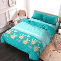 Kintakun DLuxe Bed Cover/Selimut Uk. 180x200 Motif - Summer Bee