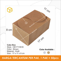 CB171108 | cake box. packaging. snack box. kotak kue.