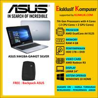 Laptop ASUS X441BA-GA442T - AMD A4-9125-RAM 4GB-HDD 1TB WIN10 SILVER