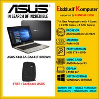 Laptop ASUS X441BA-GA441T - AMD A4-9125-RAM 4GB-HDD 1TB WIN10 BROWN